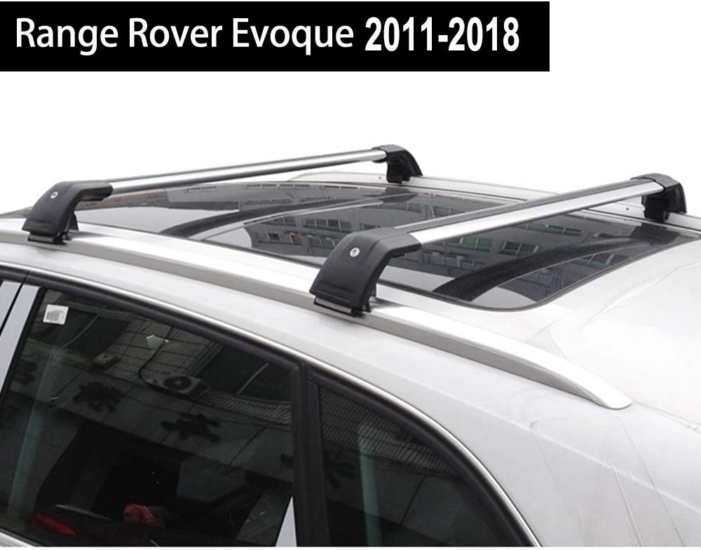 KPGDG Fit for Land Rover Range Rover Evoque 2011-2018 Lockable Roof Rack Crossbars Baggage Luggage Racks - Silver