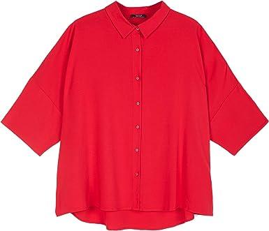 Parfois - Camisa Fluida - Mujeres - Tallas Única - Rojo: Amazon.es: Ropa y accesorios