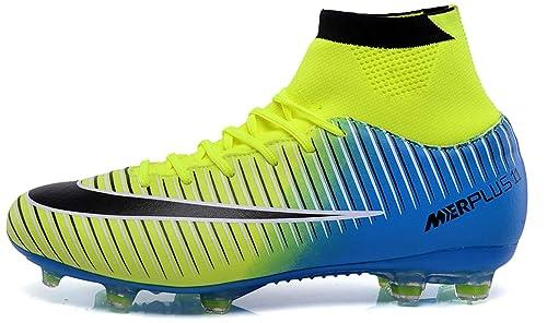 1ef90306b27d2 LSGEGO Botas de fútbol para Hombres Zapatos de fútbol con Tacones Altos  Zapatos de Entrenamiento con