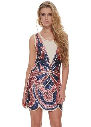 Designer Desirables Rosa & Paillettenbesetztem Flapper-Party-Kleid ...