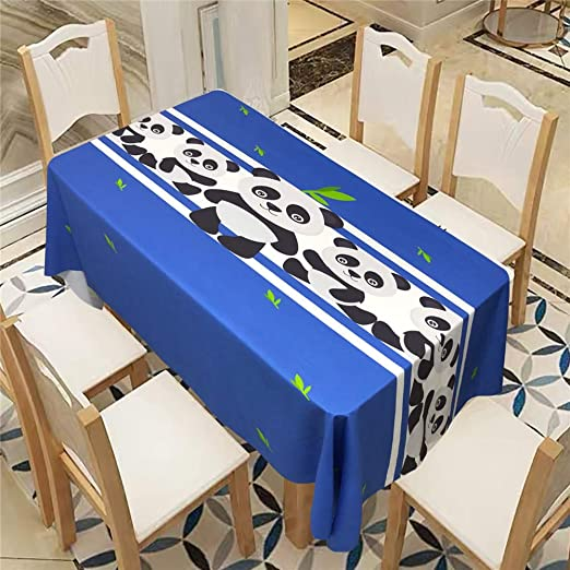 QWEASDZX Mantel Manteles Blue Garden Estampados Antimanchas ...