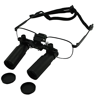 6.0 x chirurgical dentaire loupes Medical Cadre en titane
