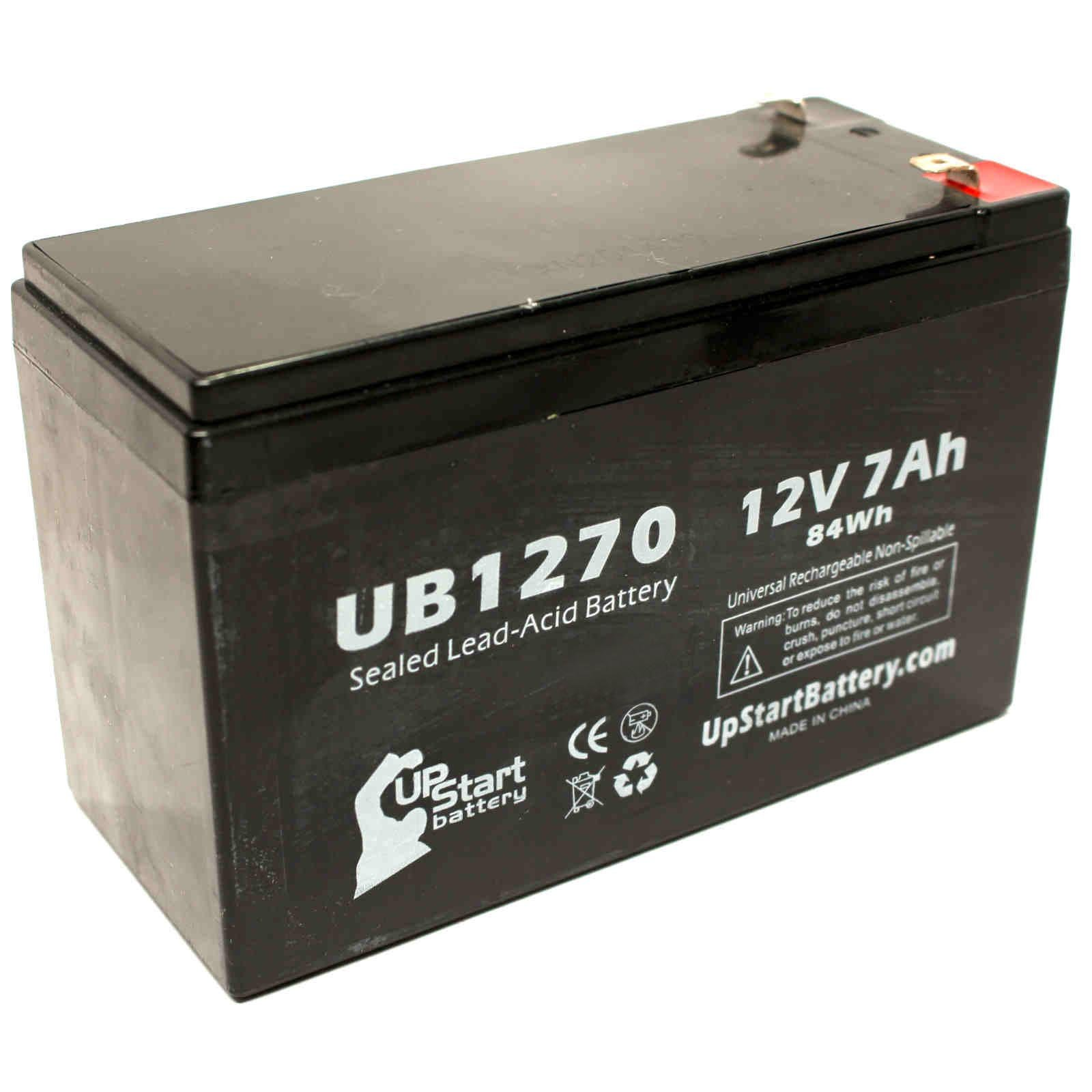 4x Pack - APC SMART-UPS 1500VA USB & SER SUA1500RMUS Battery - Replacement UB1270 Universal Sealed Lead Acid Battery (12V, 7Ah, 7000mAh, F1 Terminal, AGM, SLA) - Includes 8 F1 to F2 Terminal Adapters by UpStart Battery (Image #2)