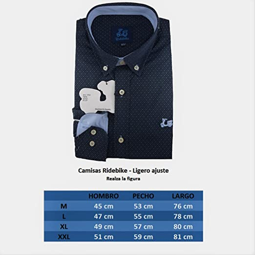 Ridebike Camisa Azul Marino con topitos Blancos Vespa | Custom fit ...