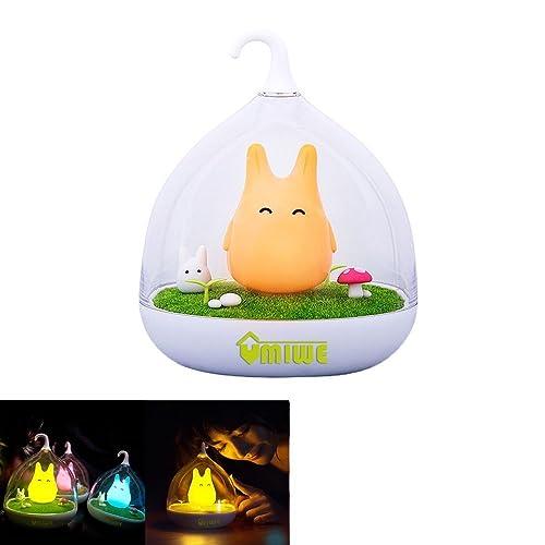 Tragbar LED-Lampe Totoro dimmbar Creative Touch Sensor USB Baby Nachtlicht(Orange)