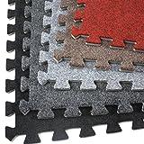 Incstores Eco-Soft Carpet Foam Tiles (6 Tiles, Burgundy) Portable Trade Show Flooring, Exercise Mats & Light Duty Carpet Top Gym Flooring …