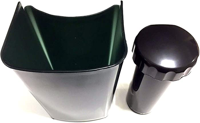 PurrsianKitty Replacement Pulp Collector Basket & Pusher Combo for Jack Lalanne Power Juicer - READ DESCRIPTION TO MAKE SURE IT FITS!