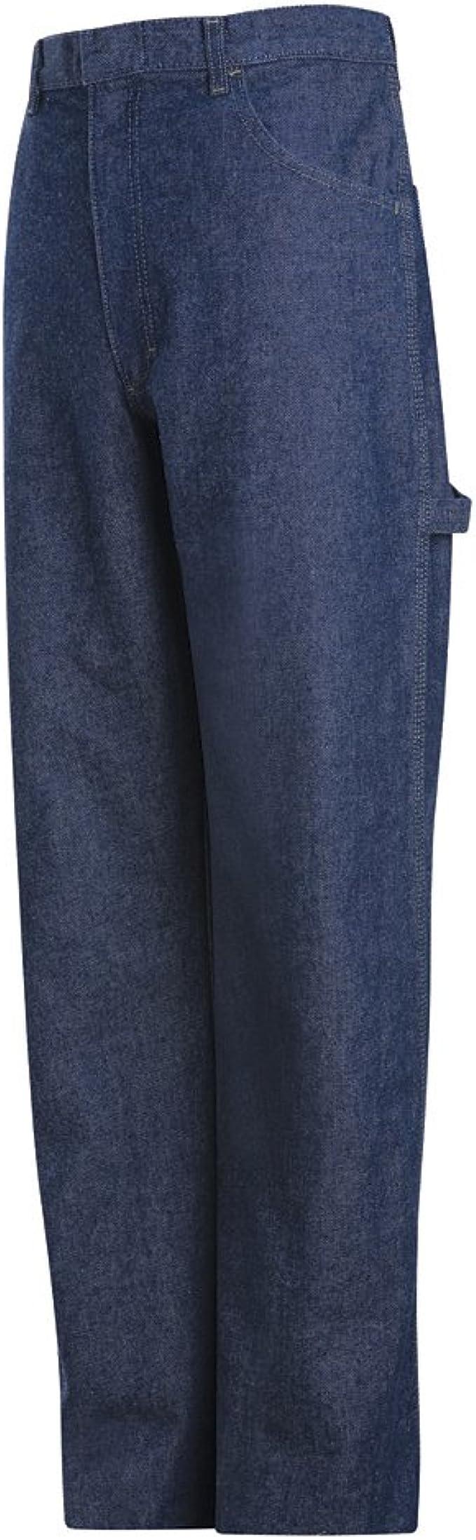 EXCEL FR Mens Bulwark Pre-washed Denim Dungaree Blue Denim 14.75 oz