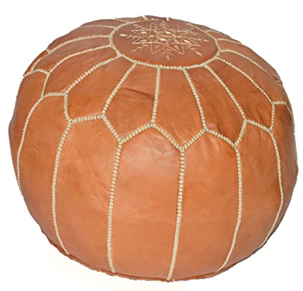 Swell Amazon Com Stuffed Moroccan Pouf Leather Stuffed Pouf Ncnpc Chair Design For Home Ncnpcorg