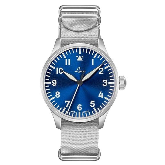 Planeador Reloj Base Augsburg Hora Azul 39 de Laco – Fabricado en Alemania – 39 mm