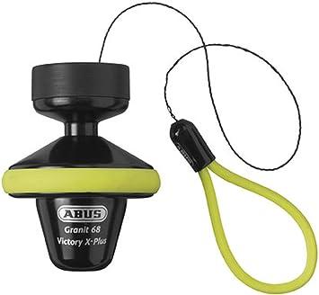 Amazon Com Abus Granit Victory X Plus 68 Disc Lock W Rollup 14mm Hi Visibility Yellow Automotive