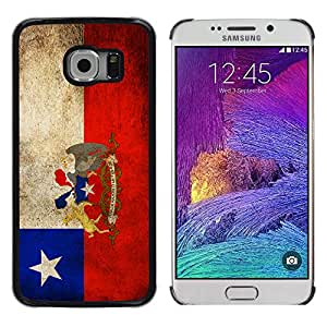 Graphic4You Vintage Chilean Flag of Chile Design Thin Slim Rigid Hard Case Cover for Samsung Galaxy S6 Edge