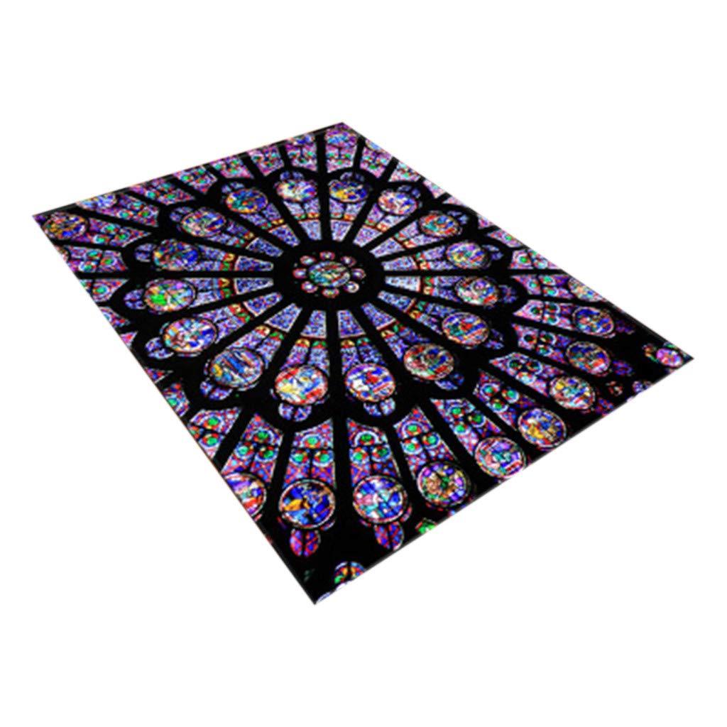 Meidexian888 Home Decor Carpet, Notre Dame Photo Commemorative Day Comfortable Carpet (A)