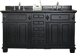 Ove Decors Essex 60 Vanity In Antique Black with Black Granite Vanity Top & White Basin