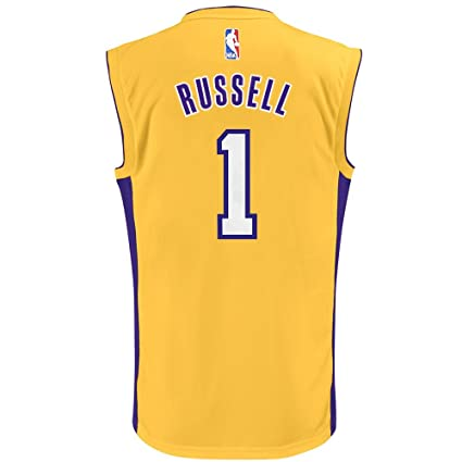 d5e7a5a6ddd Image Unavailable. Image not available for. Color: Outerstuff D'Angelo  Russell NBA Los Angeles Lakers Gold Player Replica Jersey Youth (S