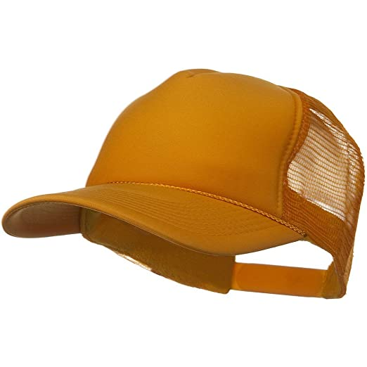 eb46accdcce Otto Caps Solid Polyester 5 Panel Foam Front Mesh Back Cap - Gold at ...