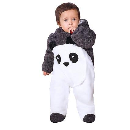 Chickwin Bebé Recién Nacido franela Mameluco Invierno Ropa Una Pieza Pelele Pijamas Niños Niñas Monos Caricatura