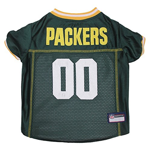 Pets First NFL Green Bay Packers Premium Pet Jersey, X-Small