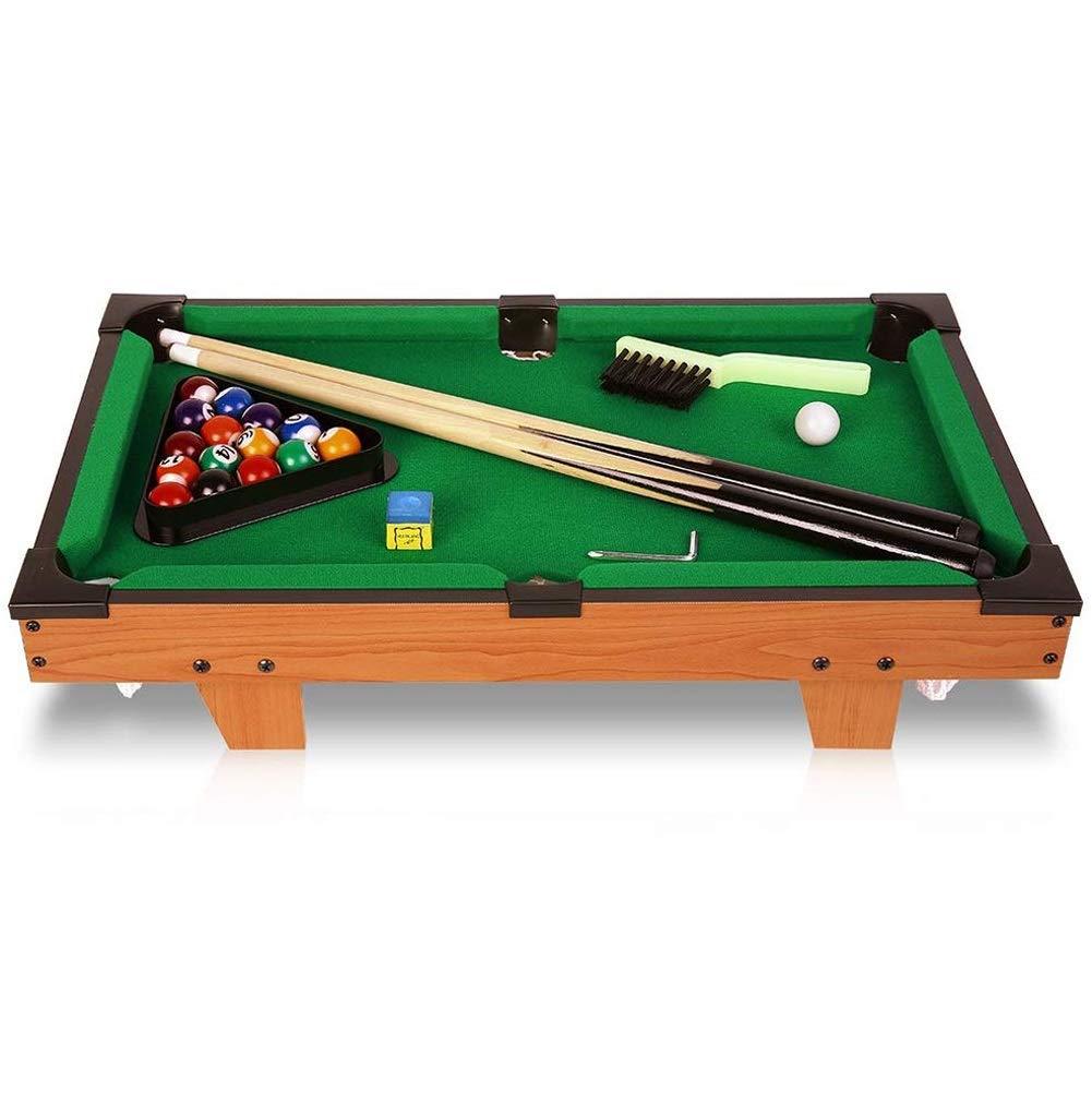 HNaGRDMMP Mini Children's Kids Wooden Portable Pool Table by, Billiard Classic Junior Family Table Sport Game for Boys Girls(513110cm) by HNaGRDMMP
