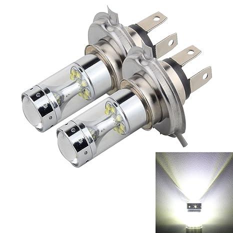 GR Faros antiniebla con 12 luces LED CREE XB-D, H4 60W 1200 LM