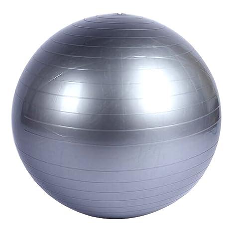 Pelota de Ejercicio Suiza de 65cm con Inflador - | Material Premium PVC Antideslizante | - Balón de Ejercicio para Cross Fitness, Yoga, Pilates, Gris: ...