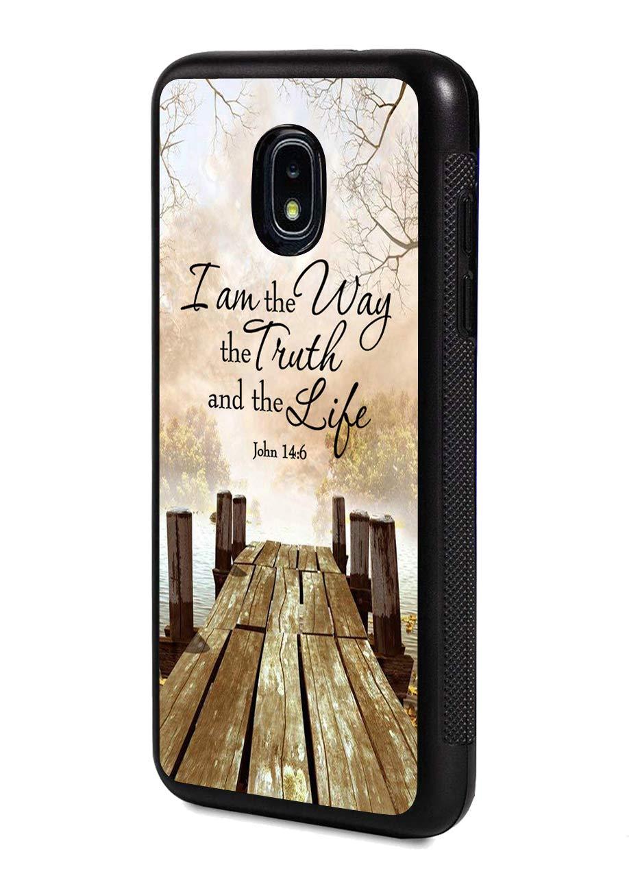 Amazon.com: Galaxy J3 (2018) Case,Wooden Walkway Quotes ...