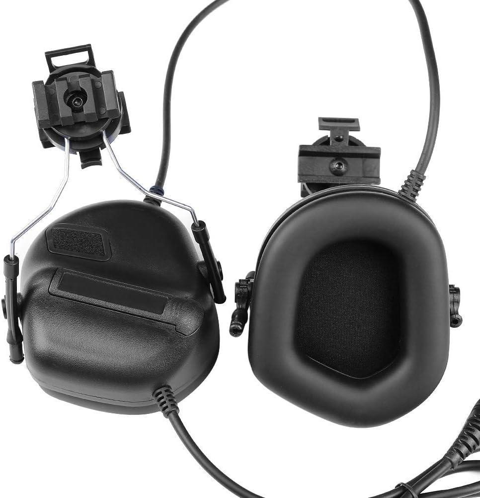 SGOYH Airsoft Paintball Activit/és de Chasse Casque Lat/éral /Écouteur Casque Tactique /étanche avec Microphone Casque Fonctionnel et PTT
