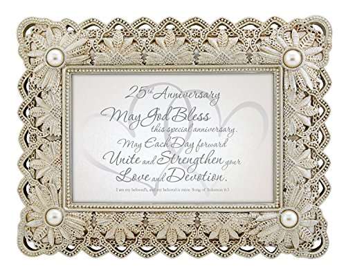 CB Gift Heartfelt Collection 25th Anniversary Framed Tabletop Gift by CB Gift