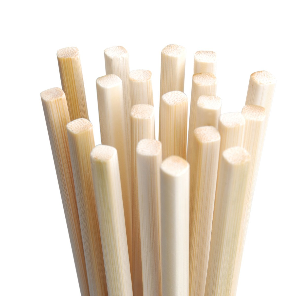 Natural Bamboo Chopsticks,Standard Pack of 10 Pairs - Mannice 24cm Long Mothproof Wooden Chopsticks, Color2