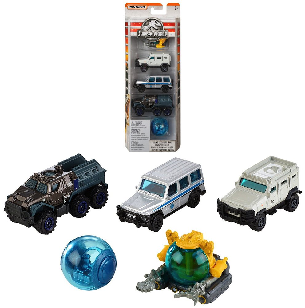 Amazon.com: Jurassic World Fallen Kingdom Island Transport Team Pack Diecast Vehicles: Toys & Games