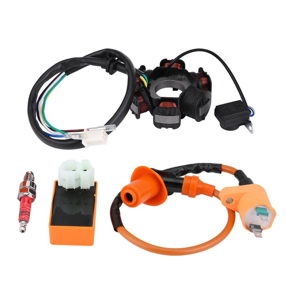 KIMISS Ignition Coil Racing Ignition Coil Magneto Stator Ignition Coil for GY6 125cc 150cc Mopeds Scooter