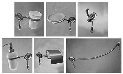 Accessori Bagno Serie Etrusca.Set Accessori Arredo Bagno A Muro Cromo Vetro Satinato Etrusca Retro