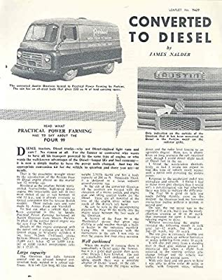 Amazon com: 1957 Austin Van Perkins Four Diesel Truck