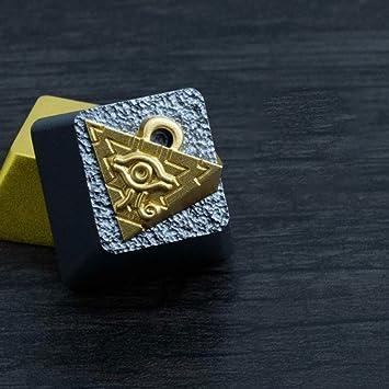 YYD Teclado Juego de Teclas Juego King Millennium Building Blocks Aleación de Aluminio 3D Teclado mecánico Metal Juego de Teclas Llave de ánodo secundario ...