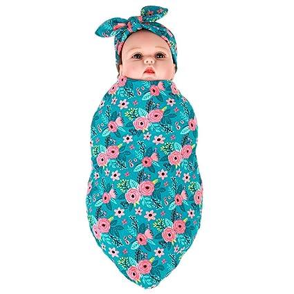 Manta para bebé recién nacido, manta para bebé y gorro B: Amazon.es ...