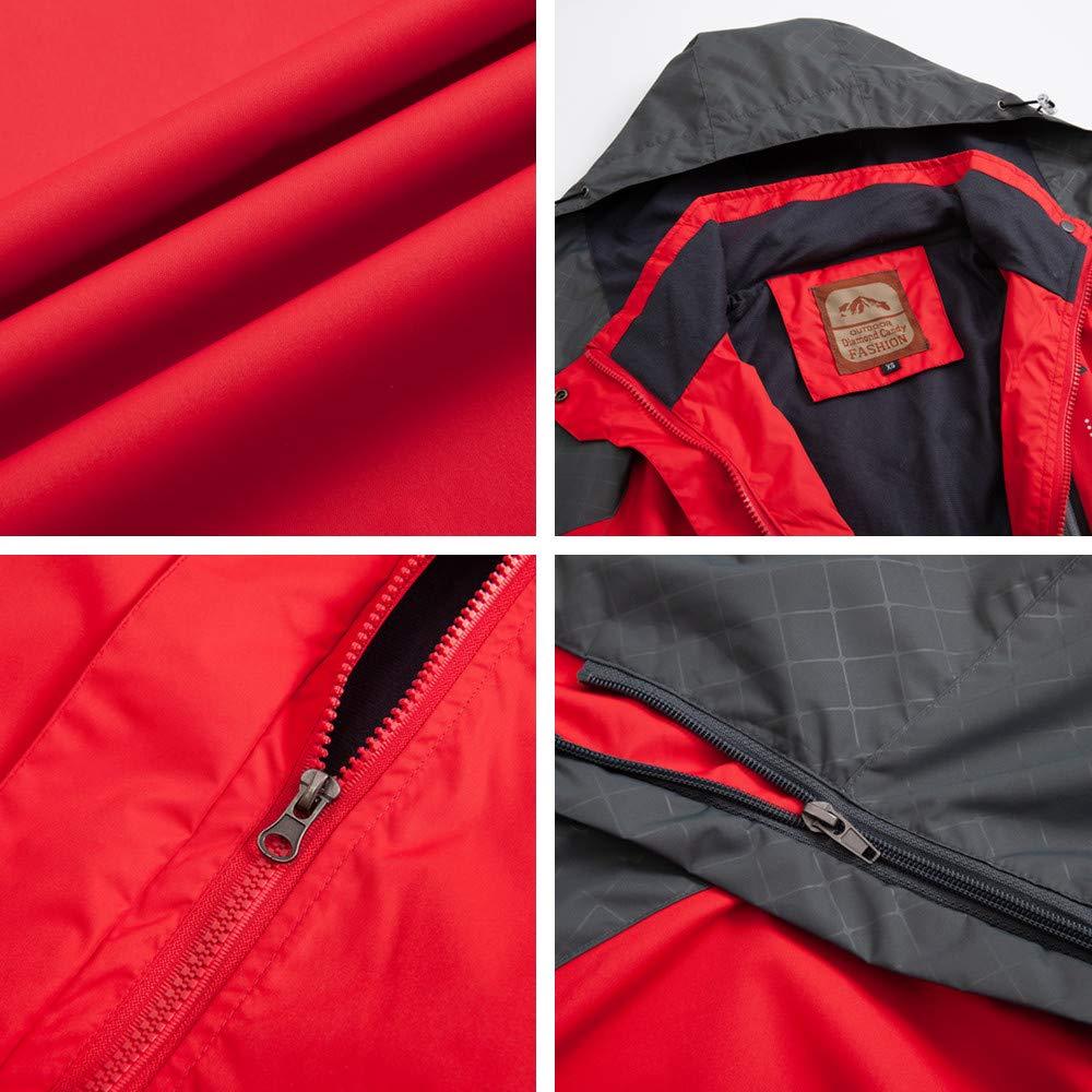 Diamond Candy Hooded Waterproof Jacket raincoat Softshell Women Sportswear RXL