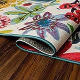 My Magic Carpet Machine Washable Runner Rug Floral