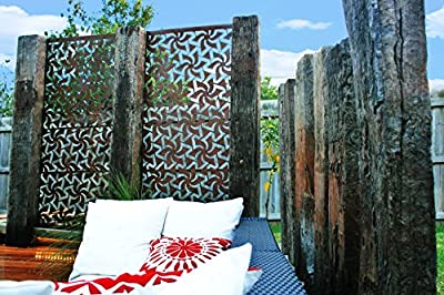 "Natural Screens by Be Metal Be ""Windmill"" Laser Cut Decorative Steel Screen / Panel"