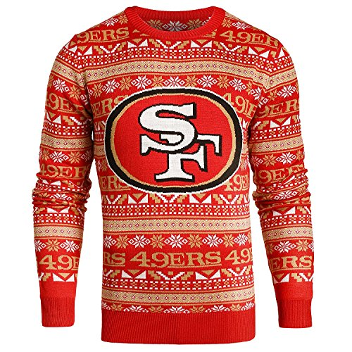 Sports Crewneck Sweater - Forever Collectibles San Francisco 49Ers 2016 Aztec Print Ugly Crew Neck Sweater - Mens Double Extra Large