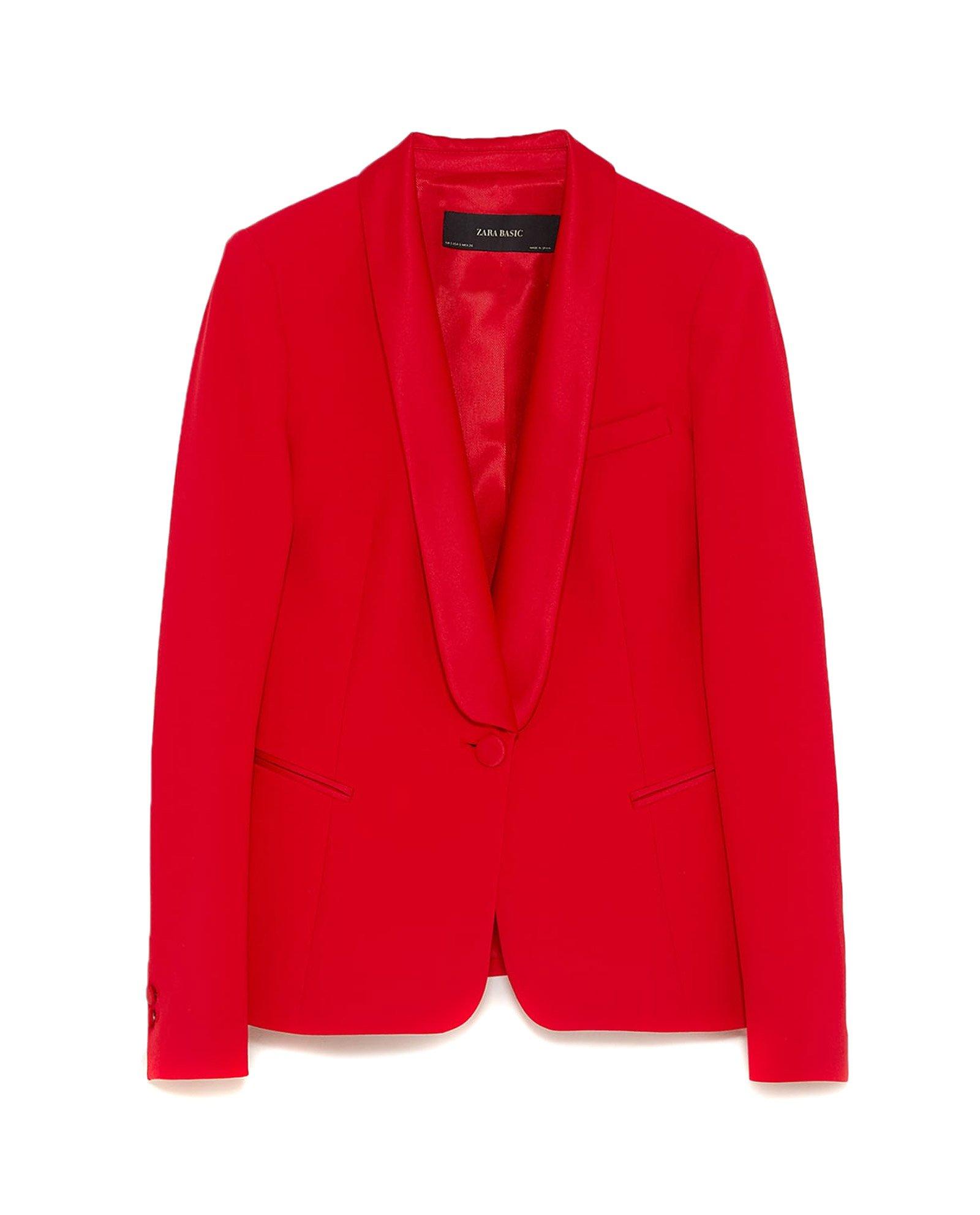 Zara Women Tuxedo Style Blazer 2173/783 (Medium)
