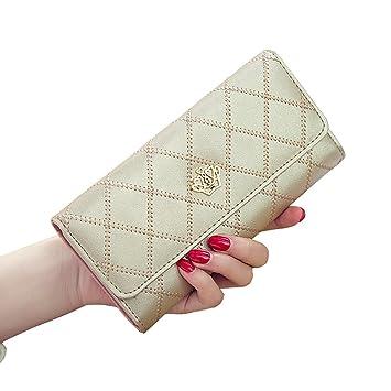 Monederos Mujer Carteras Gran Capacidad RFID Bloqueo Cera de Lujo a Mano Bolsos Largo de Mujer