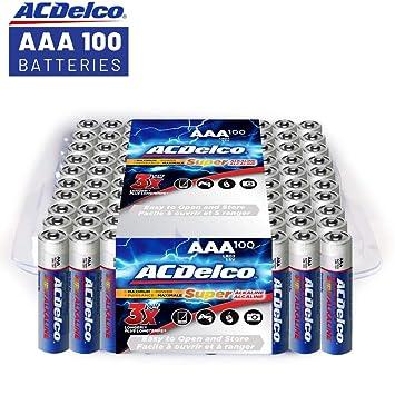 Amazon.com: ACDelco, superpilas alcalinas AAA, AC061, 1, 1 ...