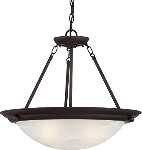 Volume Lighting V6972-79 Lunar 2-Light Pendant or Semi-Flush Ceiling, Antique Bronze