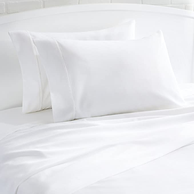 Thread Spread 100 Egyptian Cotton 1000 Thread Count Ultra Soft Pillow Case Set Durable And Silky Soft Queen Size Pillowcase White Amazon Ca Home Kitchen