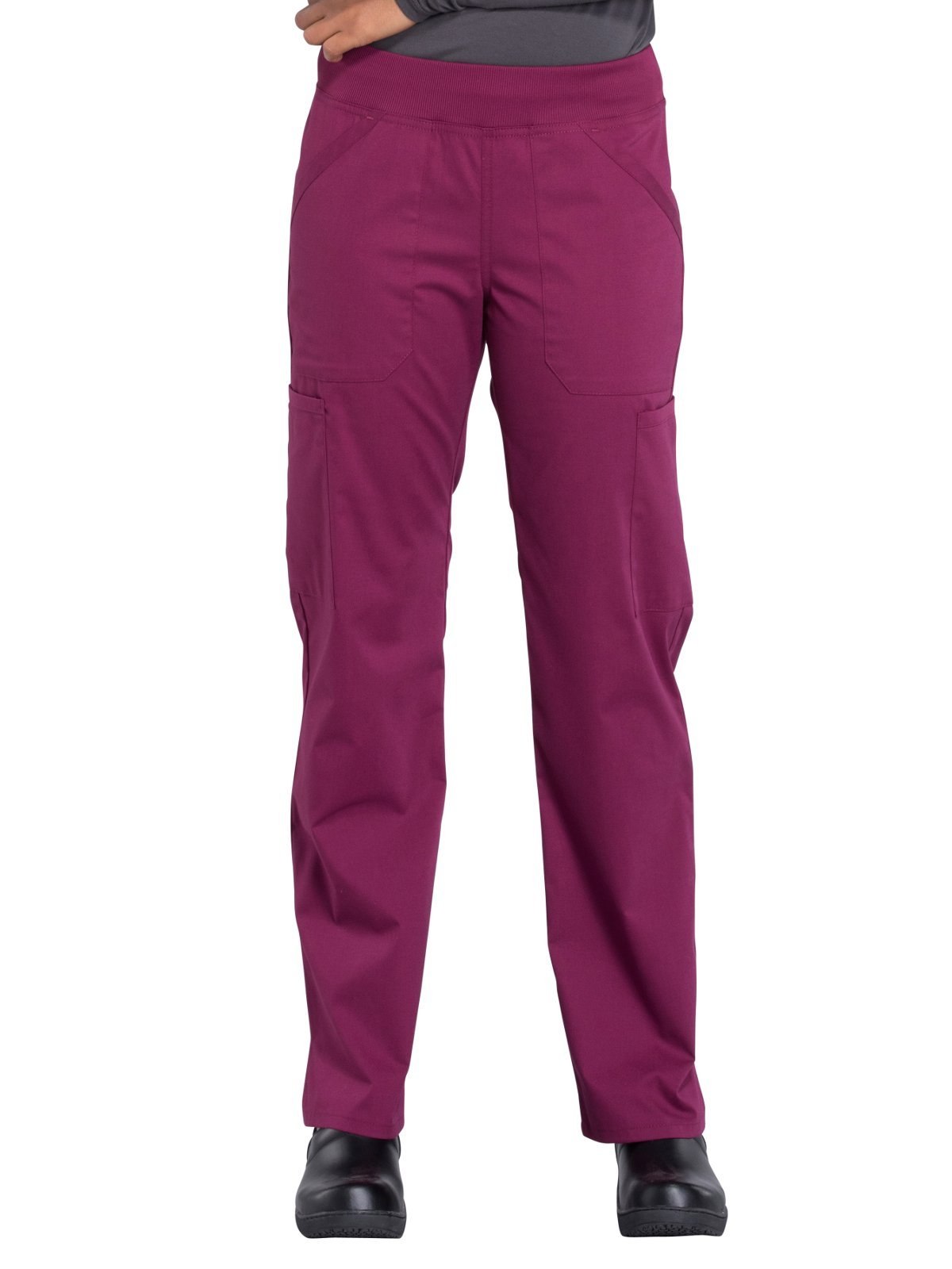 Cherokee Workwear Professionals WW170 Cargo Pant- Wine- Small