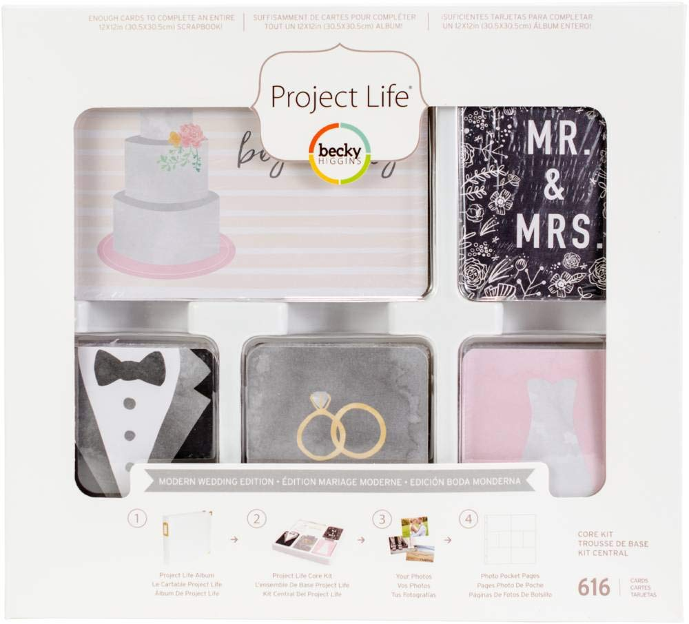 Project Life Core Kit Core Edition-Modern Wedding (616 Pieces) by Project Life