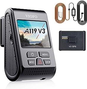 【Bundle: VIOFO A119 V3 Dash Cam + HK3 Acc Hardwire Cable】 VIOFO A119 V3 Dash Cam Quad HD 1600P with GPS, Super Capacitor, Parking Mode, Motion Detection, WDR