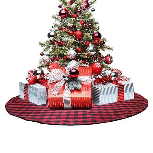 Comtervi Doble Capa Falda Árbol de Navidad de Cuadros de Buffalo ...
