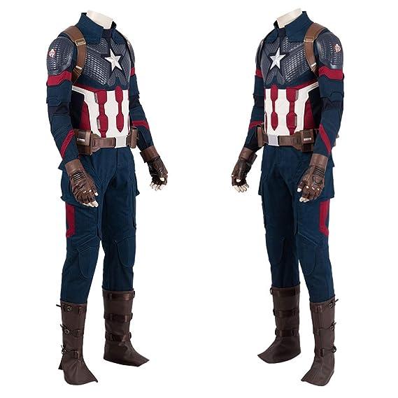 Amazon.com: Disfraz de Capitán América de ComShow para ...
