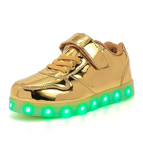 Licy Life-UK Unisex Niños Niñas Zapatos Zapatillas de LED 7 Colors USB Carga Luz Luminosas Flash Deporte para Deportivas para Navidad Fiesta de Regalo: ...